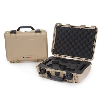 Nanuk 910 Glock® 2 Up Pistol Case Tan 910-GLOCK0