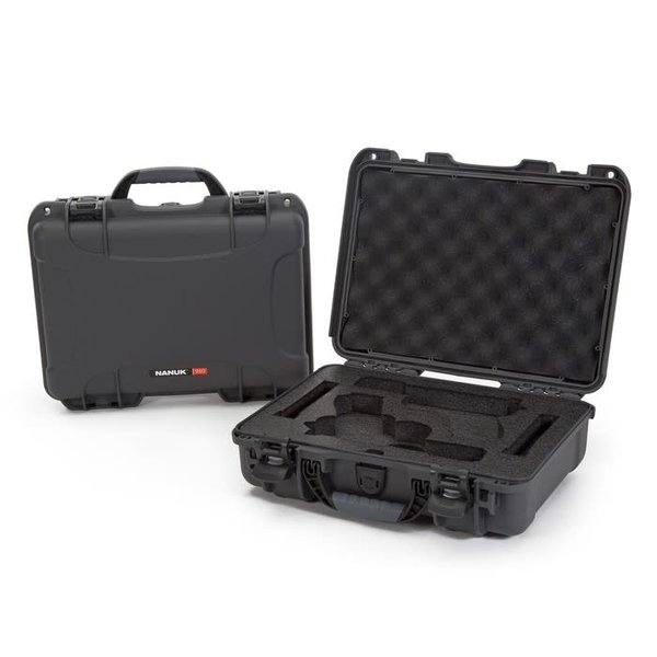 Nanuk 910 Glock® 2 Up Pistol Case Graphite 910-GLOCK7