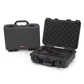 Nanuk 910 2UP Case with Foam insert for Classic Gun, Graphite, 910-CLASG7