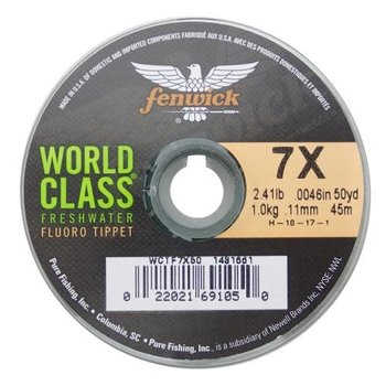 Fenwick World Class 5X 4.51lb Fluoro Tippet. 50yds