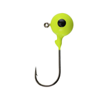 Berkley Round Ball Jigs. 1/32oz Chartreuse 8-pk