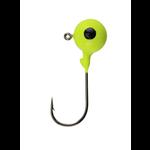 Berkley Round Ball Jigs. 1/4oz Chartreuse 6-pk