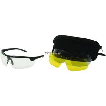 Allen 22777 Ion Ballistic Shooting Glasses 3 Lens Set Clear/Yellow/Smoke