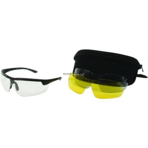 Allen 22777 Ion Ballistic Shooting Glasses 3 Lens Set Clear/Yellow/Smoke