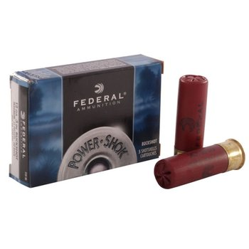 "Federal Power-Shok 12ga 3"" 15 PLT 00 5 Rounds"