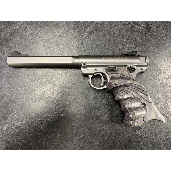Ruger Mark IV Custom Competition 22 LR Stainless Semi Auto Pistol w/2 Mags