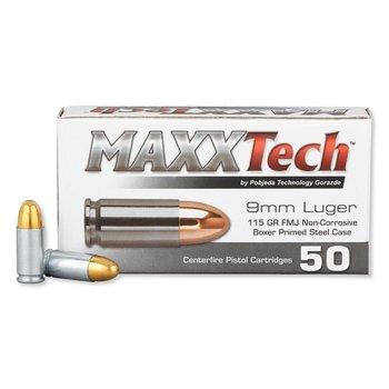 MaxxTech 9mm Luger 115GR FMJ