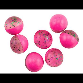 """PowerBait Power Eggs Clear Grn Purple Pink .5oz Bottle """"Garlic"""""""