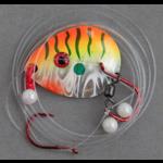 Berkley Mono Flicker Rig. #4 Colorado/Dbl Hook. Orange Cougar