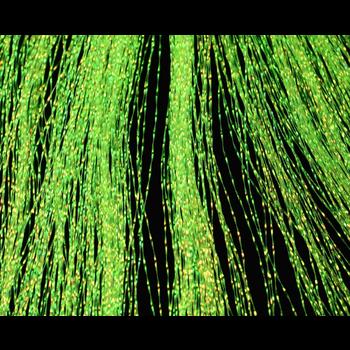 Hareline Dubbin Krystal Flash Fl. Chartreuse