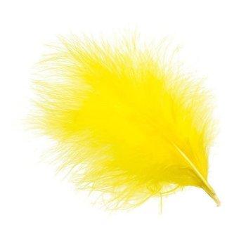 Wapsi Select Marabou Plumes 006 Yellow 12-pk