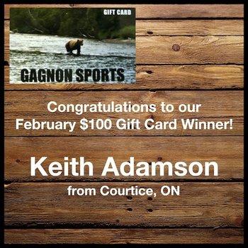 February Gift Card Winner