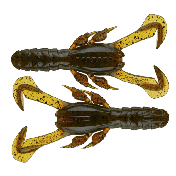 "13 Fishing Ninja Tail Ninja Craw 3"" Collard Greens 6-pk"