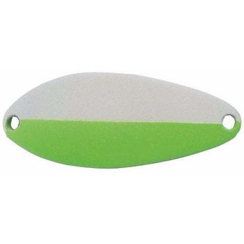 """Acme Little Cleo """"Glo'' Spoon 2/5oz. Glow Green & Black Dots."""