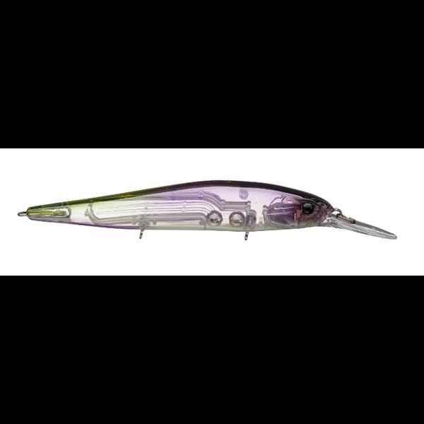 "13 Fishing Loco Special 3-5ft Black Lavender 4-1/2"" 9/16oz Jerkbait"