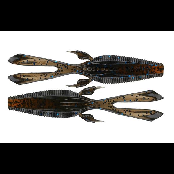 "13 Fishing Rabbit Ear Tail Invader Black & Tan 4.25"""