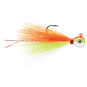 VMC Bucktail Jig 1/4oz Orange Fire UV 2-pk
