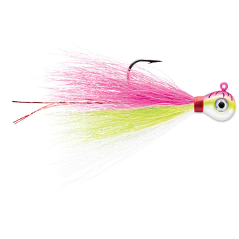 VMC Bucktail Jig 1/4oz Pink Fire UV 2-pk
