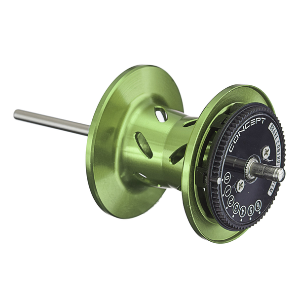 13 Fishing TrickShop Concept Deep Spool Assembly Right Handed Lime