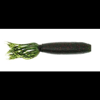 Yamamoto Fat Ika. Watermelon Black/Red Flake 10-pk