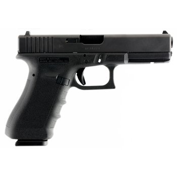 "Glock G17 Gen3 RTF Pistol PT1750201, 9mm Luger, 4.48"", Black Polymer Grip/Frame, Black Finish, 10 Rd"