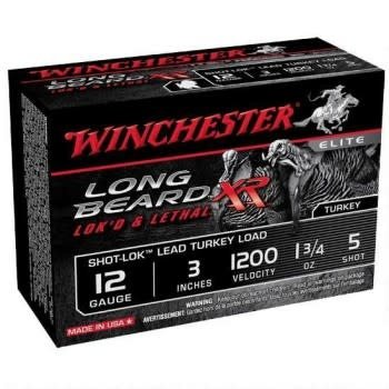Winchester STLB1235 Long Beard XR Shotshell 12 GA, 3 in, No. 5, 1-3/4