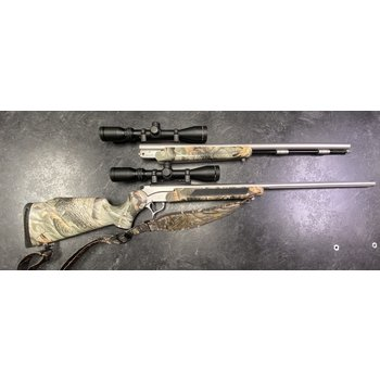 Thompson Center Pro Hunter Stainless Rifle .50 Cal & .270 Win 2 BBL Combo w/Scopes