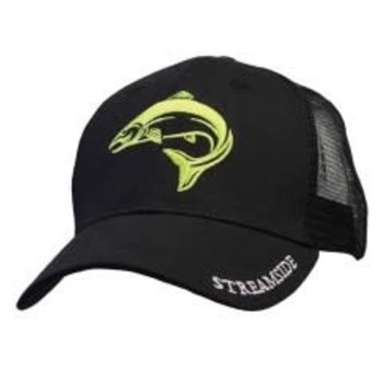 Streamside Trucker Cap, Black, O/S