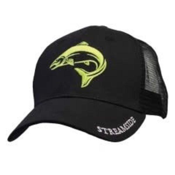 Streamside Trucker Cap, Black, O/S