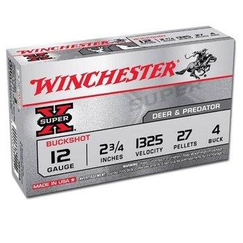 """Winchester Winchester Super-X 12 Gauge 2.75"""" #4 Buck 5 Round Box"""