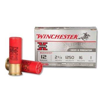 "Winchester Winchester Super-X 12-Gauge 2.75"" Shotshells, #1 Shot, 5 Rounds"