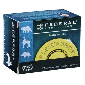 Federal Power-Shok Rifle Ammo 44 Rem Mag 240gr Jacketed Hollow Point 20 Rounds