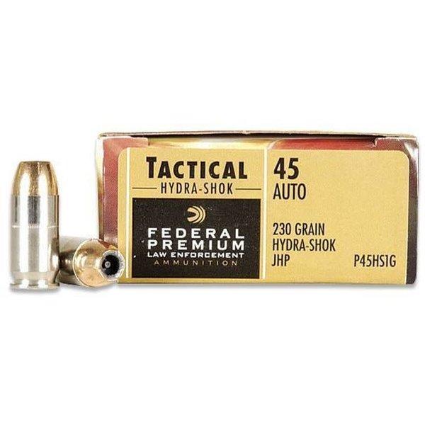Federal P45HS1 Premium Personal Defense Pistol Ammo 45 ACP