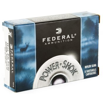 Federal Power Shok Rifled Slug 12Ga 3 in 1 1/4OZ