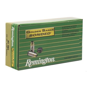 Remington Golden Saber Bonded 40 S&W Ammo 180 Grain Brass Jacketed Hollow Point