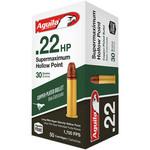 Aguila Super Maximum Rifle Ammunition 1B222297, 22 Long Rifle, Hollow Point (HP), 30 GR, 1750 fps, 50 Rd/bx