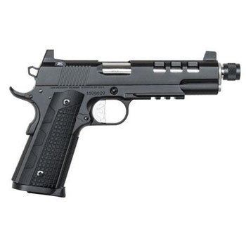 "CZ USA Dan Wesson 1911 Discretion Pistol 01886, 9mm, 5.7"", Black Finish, 10 Rds"