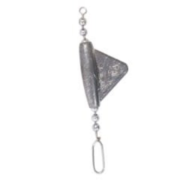 Compac Keel Sinker with Steel Chain & Snap. 3/8
