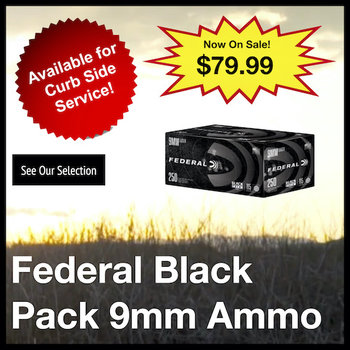 Federal Black Pack 9mm Ammo