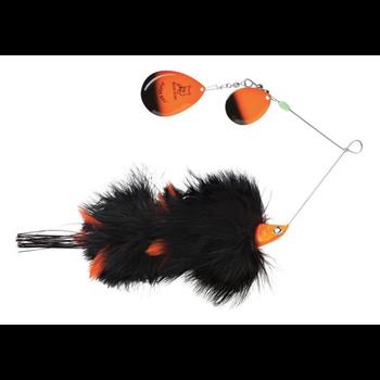 Blue Fox SuperBou Spinnerbait Black Orange 2oz