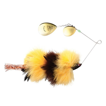 Blue Fox SuperBou Spinnerbait Yellow Brown 2oz