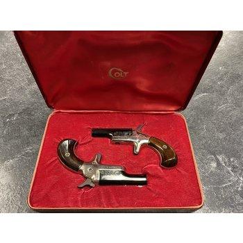 Colt Derringer Matched Set 22 Short Cased Pistols