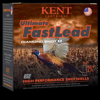 "Kent Ultimate Fast Lead Diamond Shot Upland 12ga 2-3/4"" 1-1/4oz #6 Shot Ammunition"