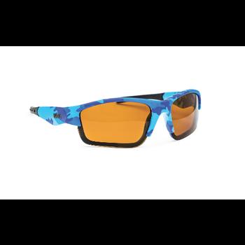 Rapala Boys Polarized Fishing Glasses Blue Camo