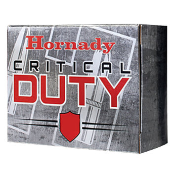 Hornady Critical Duty .45 ACP +P Ammunition 20 Rounds 220 Grain FlexLock Polymer Tip Flat Base Projectile 975fps