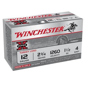 Winchester X12MT4 Super-X Turkey Shotshell 12 GA, 2-3/4 in, No. 4