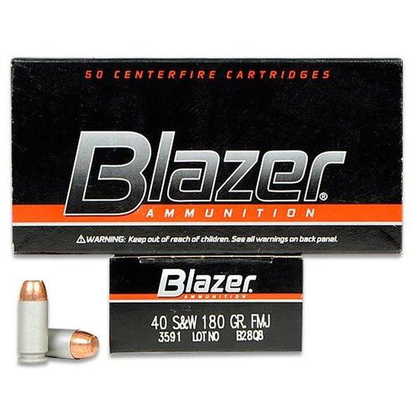 CCI CCI 3591 Blazer Centerfire Pistol Ammo 40 S&W 180Gr 50Rnd FMJ Blazer