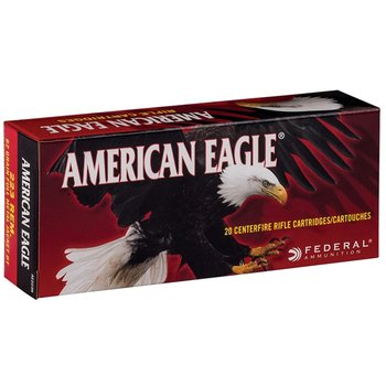 Federal American Eagle Ammunition 223 Remington 62 Grain Full Metal Jacket Box of 20