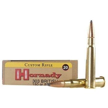Hornady Custom Ammunition 303 British 150 Grain InterLock Spire Point Box of 20