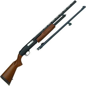 "Mossberg 500 Youth Bantam Field/Deer Combo 20 Gauge Pump Action Shotgun 22""/24"" Barrels 3"" Chamber 5 Rounds Wood Stock Matte Black"